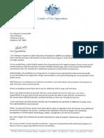 Bill Shorten letter to PM