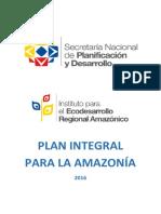 Plan Integral Para La Amazonia