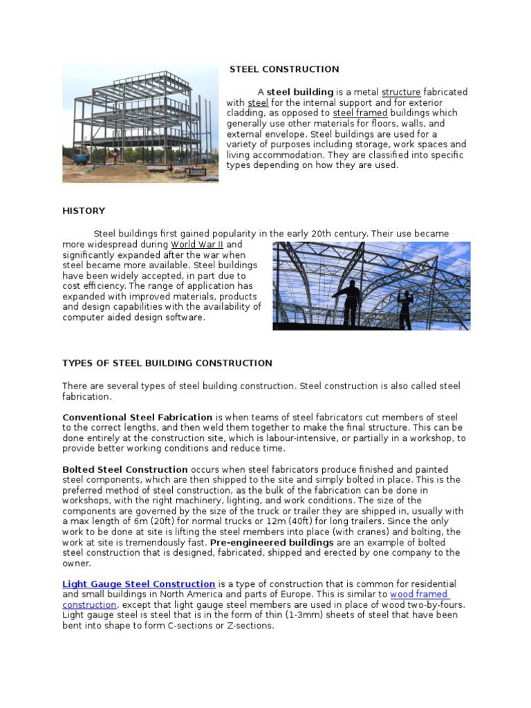 Steel Construction   Framing (Construction)   Metal Fabrication