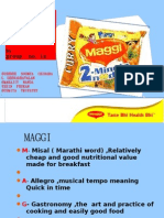 DEMAND ANALYSIS ON CHOSEN PRODUCT MAGGI