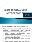 Linear Programming-metode Simplex