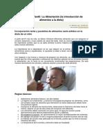 Nutrición Infantil ablactación.