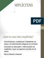 Ideas Implícitas- Tesis - Argumento