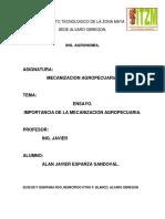 Importancia de La Mecanizacion Agropecuaria