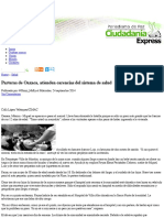 Parteras de Oaxaca, atienden carencias del sistema de salud|Ciudadania Express