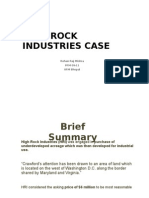 High Rock Industries Case