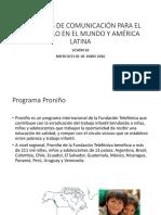 Proyectos de comunicacion para el desarrollo en el mundo y america latina