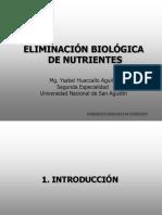 1. Introducción a La Eliminación Biológica de Nitrógeno