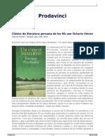 Clasico de Literatura Peruana de Los 90 Por Octavio Vinces