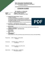 Lesson Guide Ggsr