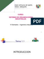 SISTEMA DE ORGANIZACIONES INDUSTRIALES