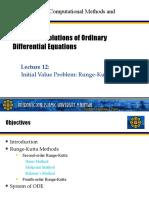 Lecture12 - Initial Value Problem Runge Kutta Methods