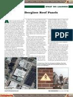 Dangers of Fiberglass Roof Panels
