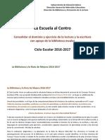Biblioteca y La Ruta de Mejora 2016-2017