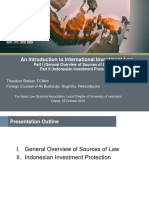 An Introduction to International Investment Law ALSA UI 25102016 Parts I and II
