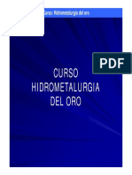 Hidrometalurgia Del Oro