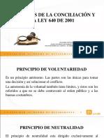 Principios de La Conciliación y La Ley 640