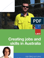 Creating Jobs and Skills in Australia Fact Sheet