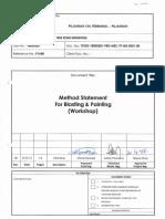 Method Statement for Blasting & Painting (Workshop)