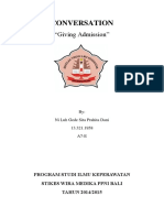Giving Admission