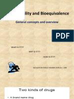 1. Bioavailability and Boequivalence