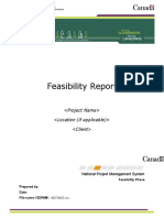 Feasibility Report preparation guide