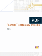 Financial Transparency of Media, 2016