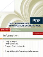 The Quantification of Information Systems Risk