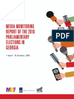 Media Monitoring Report of the 2016 Parliamentary Elections in Georgia