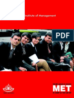 MET Institute of Management - Brochure