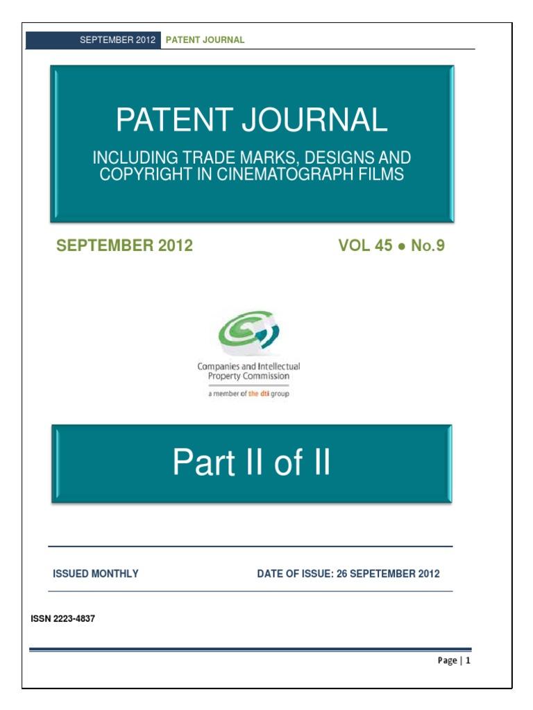 E_Journal September_2012 Part 2.pdf | Patent Application | Priority ...