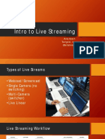 Intro to Live Streaming Slides