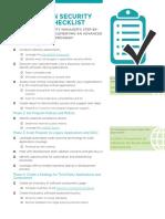 Application Security Program Checklist