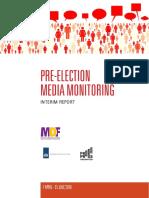 Pre-election Media Monitoring 1 April - 31 July, 2016, Interim Report