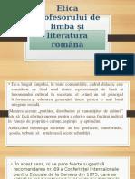 Etica profesorului de limba și literatura română