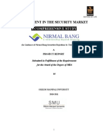 Project Report for Mba-Investment in the Security Market