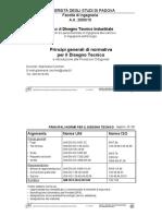 Normativa e Principi Generali Disegno Tecnico