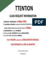 Class Request