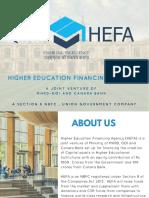 Higher Education Financing Agency Brochure