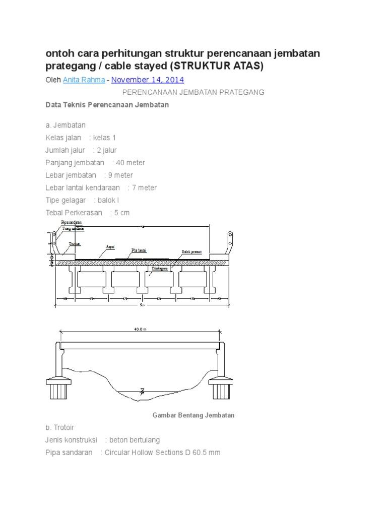 Ontoh cara perhitungan struktur perencanaan jembatan prategang ccuart Choice Image