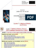 7.- Ejemplos de QFD Despliegue Funcional de Calidad