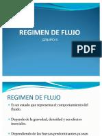 Regimen de Flujo en Tuberias