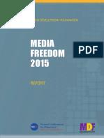 Media Fredom 2015, Report