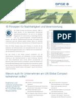 DFGE UN Global Compact Leistungen