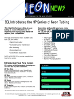 EGL Neon Tube News