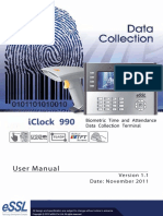 Biometric Reader IC990 User Manual