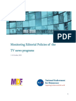 Monitoring Editorial Policies of the TV news programs