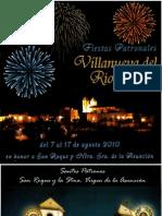 Libro Fiestas Patron Ales Villanueva Rio Segura 2010