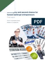Bankruptcy and Second Chance for Honest Bankrupt Entrepreneurs FINAL REPORT