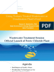 Treated waste water (TWW) as Desalination Feed
